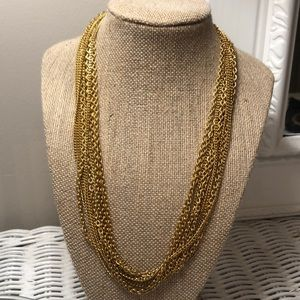 Sarah Coventry multi chain necklace